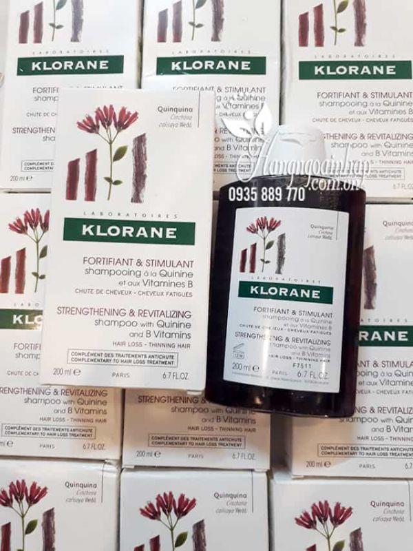 Dầu gội Klorane Quinine 200ml, dầu gội trị rụng tóc của Pháp 5
