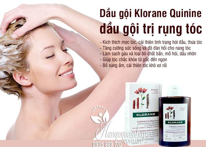 Dầu gội Klorane Quinine 200ml, dầu gội trị rụng tóc của Pháp 6