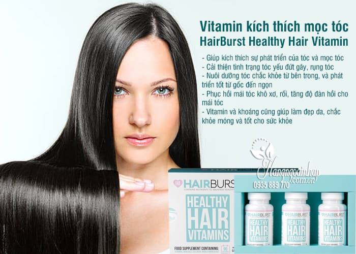 Vitamin kích thích mọc tóc HairBurst Healthy Hair Vitamin 60v 7