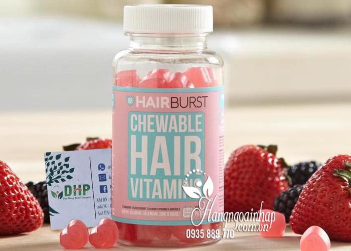 Kẹo dẻo kích thích mọc tóc HairBurst Chewable Hair Vitamins 3