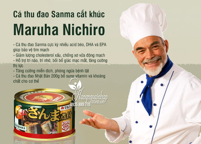 Cá thu đao Sanma cắt khúc Maruha Nichiro Nhật Bản 200g 9