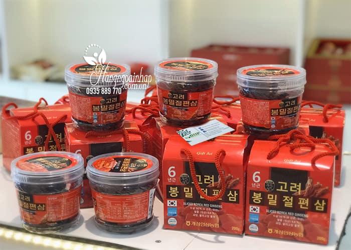 Hồng sâm lát tẩm mật ong Sliced Korea Red Ginseng 200g 0