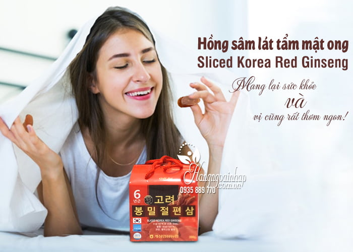 Hồng sâm lát tẩm mật ong Sliced Korea Red Ginseng 200g 1