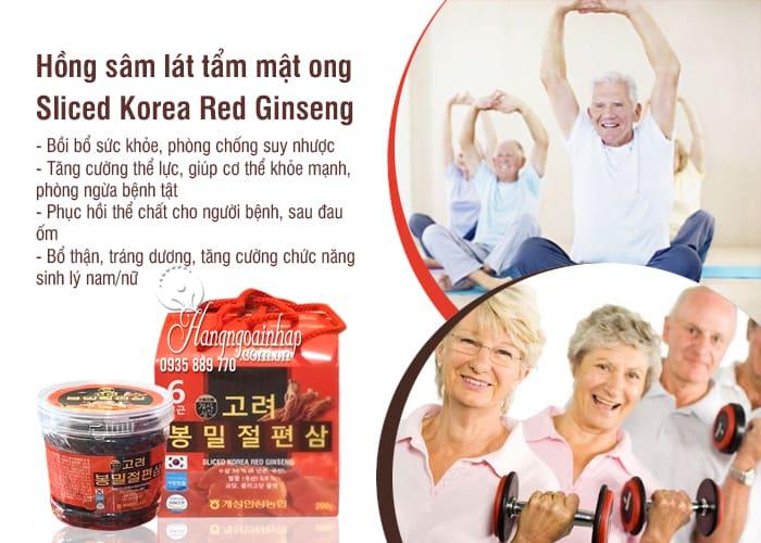 Hồng sâm lát tẩm mật ong Sliced Korea Red Ginseng 200g 7