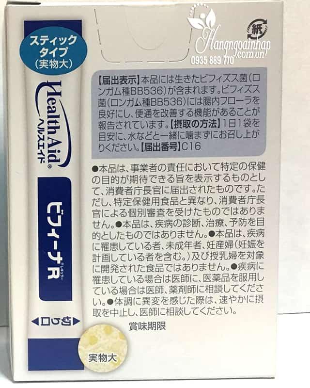 Men vi sinh Health Aid Bifina R 20 gói - Hỗ trợ tiêu hóa 99