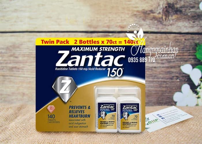 Viên uống hỗ trợ dạ dày Zantac 150mg Maximum Strength 140 viên 1