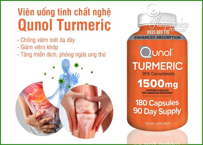 Viên uống tinh chất nghệ Qunol Turmeric 1500mg 180 viên Mỹ 6