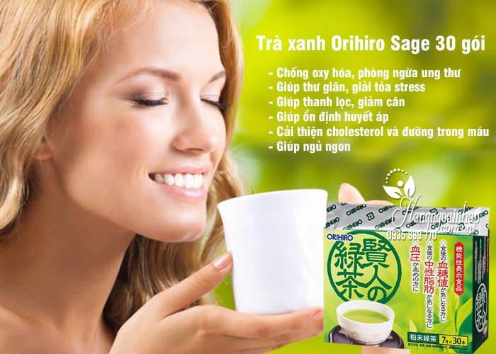 Trà xanh Orihiro Sage 30 gói - Trà xanh Nhật Bản chính hãng 1