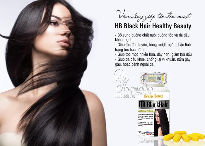 Viên uống HB Black Hair Healthy Beauty - Giúp tóc đen mượt 7