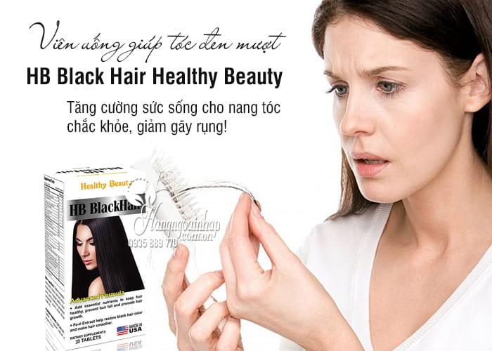 Viên uống HB Black Hair Healthy Beauty - Giúp tóc đen mượt 4