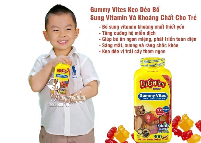 Gummy Vites Kẹo Dẻo Bổ Sung Vitamin Và Khoáng Chất Cho Trẻ 3