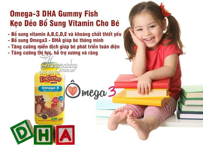 Omega-3 DHA Gummy Fish Kẹo Dẻo Bổ Sung Vitamin Cho Bé 2
