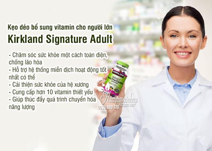 Kẹo dẻo bổ sung vitamin cho người lớn Kirkland Signature Adult 2