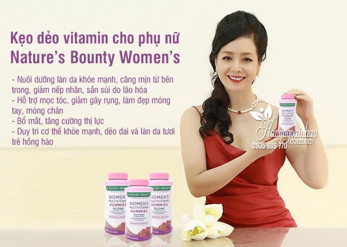 Kẹo dẻo vitamin cho phụ nữ Nature's Bounty Women's Mỹ 1