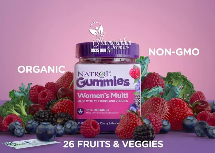 Kẹo dẻo vitamin cho phụ nữ Natrol Gummies Women's Multi 5
