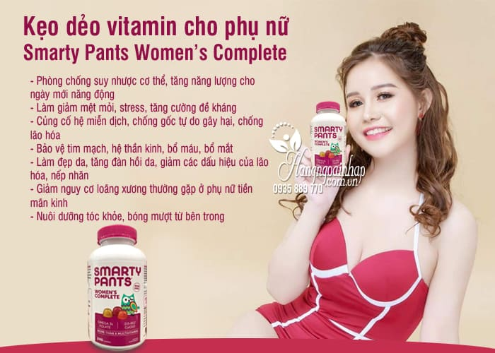 Kẹo dẻo vitamin cho phụ nữ Smarty Pants Women's Complete  6