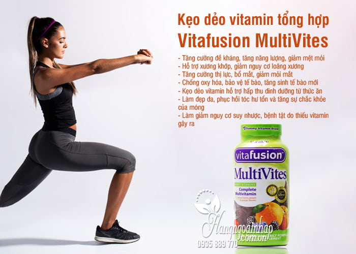 Kẹo dẻo vitamin tổng hợp Vitafusion MultiVites 250 viên Mỹ 5