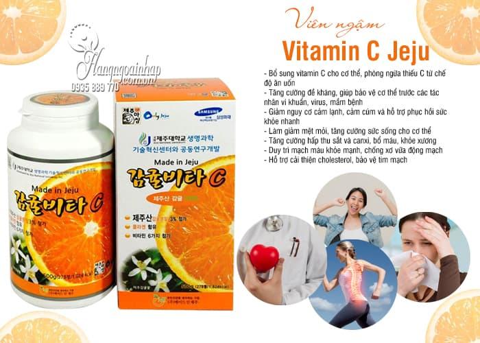 Viên ngậm Vitamin C Jeju 500g Hàn Quốc, hộp 278 viên giá tốt 5