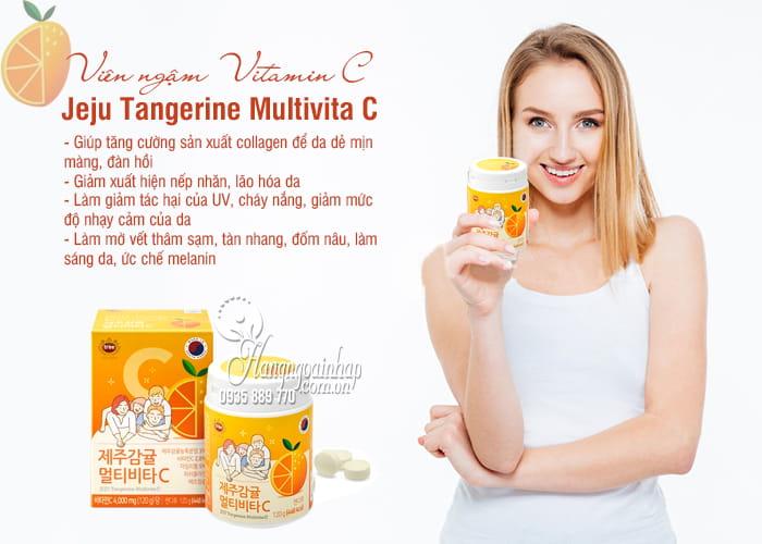 Viên ngậm Vitamin C Jeju Tangerine Multivita C 4000mg 120g 7