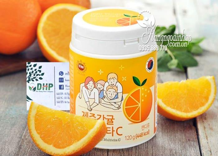 Viên ngậm Vitamin C Jeju Tangerine Multivita C 4000mg 120g 1