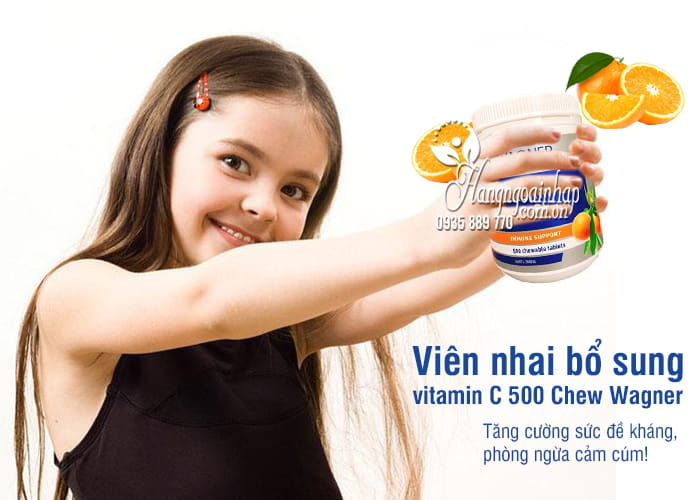 Viên nhai bổ sung vitamin C 500 Chew Wagner của Úc 1
