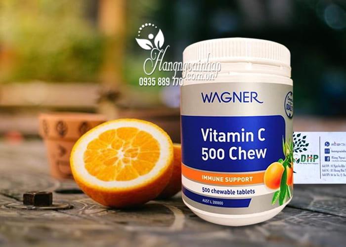 Viên nhai bổ sung vitamin C 500 Chew Wagner của Úc 3