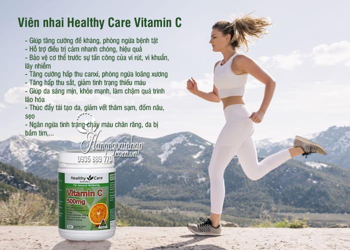 Viên nhai Healthy Care Vitamin C 500mg hộp 500 viên Úc 6