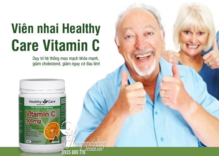 Viên nhai Healthy Care Vitamin C 500mg hộp 500 viên Úc 1