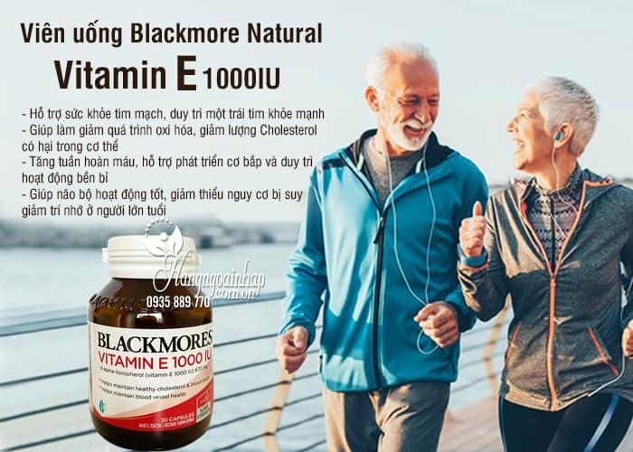 Viên uống Blackmore Natural Vitamin E 1000IU 30 viên của Úc 7