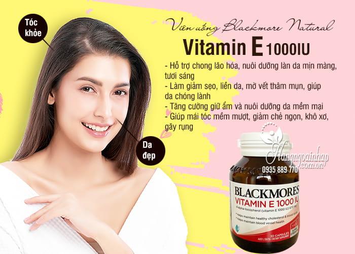 Viên uống Blackmore Natural Vitamin E 1000IU 30 viên của Úc 3