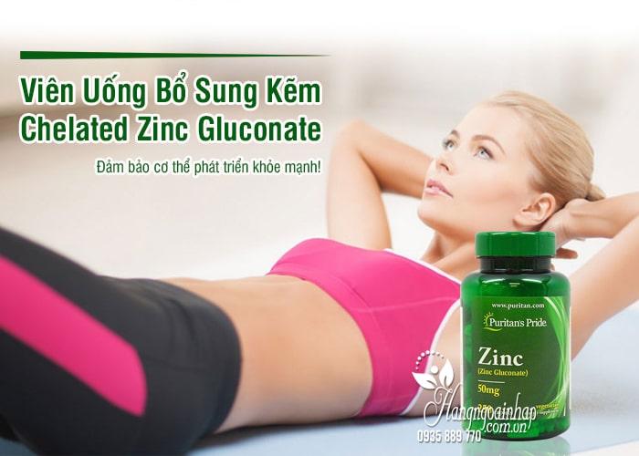 Viên Uống Bổ Sung Kẽm Chelated Zinc Gluconate 50mg 250 Viên 1