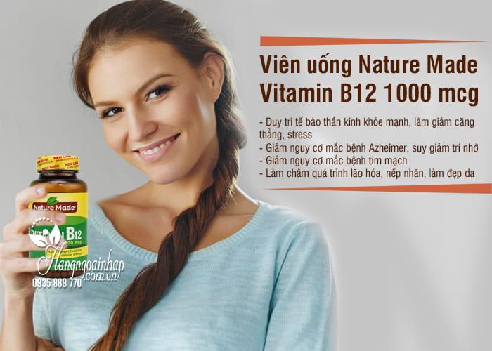 Viên uống Nature Made Vitamin B12 1000 mcg hộp 400 viên của Mỹ 6