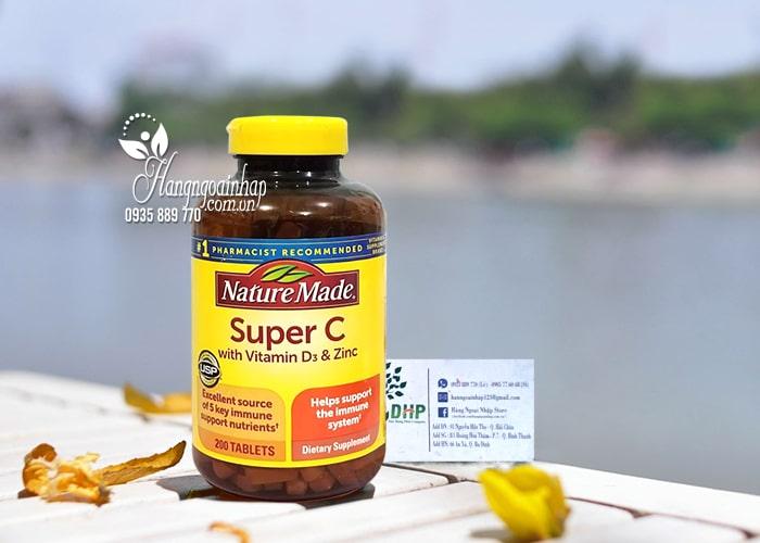 Viên uống tăng cường miễn dịch Super C With D3 & Zinc 200v 8