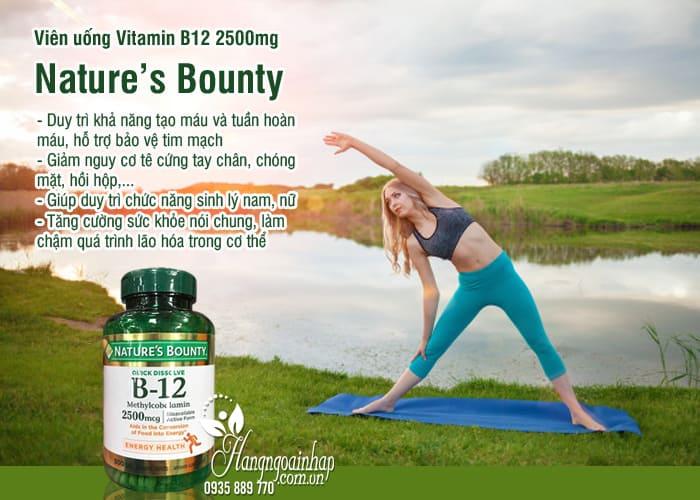 Viên uống Vitamin B12 2500mg Nature's Bounty 300 viên Mỹ 8