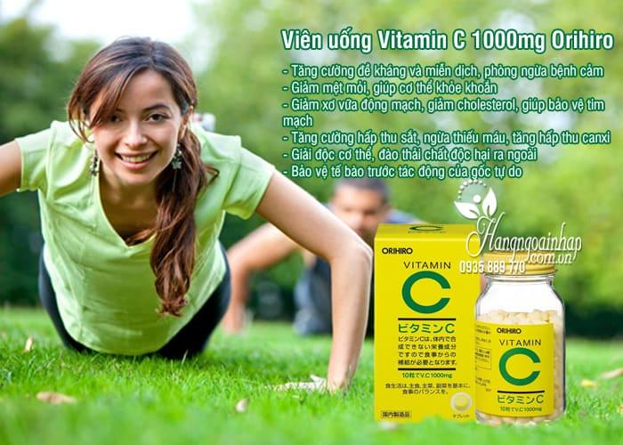 Viên uống Vitamin C 1000mg Orihiro của Nhật, hộp 300 viên 1