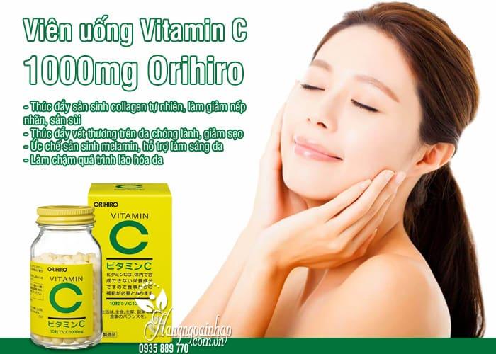 Viên uống Vitamin C 1000mg Orihiro của Nhật, hộp 300 viên 6