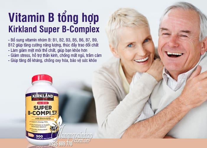 Vitamin B tổng hợp Kirkland Super B-Complex 500 viên của Mỹ 5