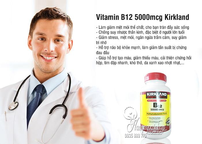 Vitamin B12 5000mcg Kirkland 300 viên của Mỹ chính hãng 4
