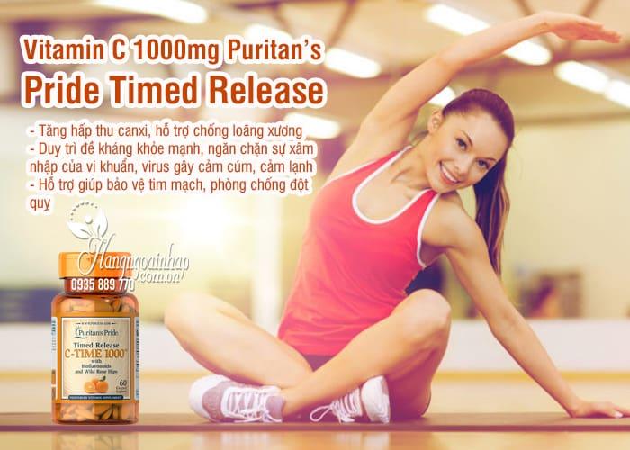 Vitamin C 1000mg Puritan's Pride Timed Release 60 viên 1