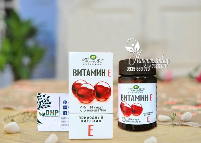 Vitamin E 270mg Mirrolla của Nga hộp 30 viên 2