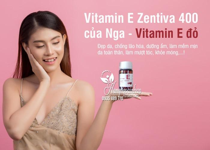 Vitamin E Zentiva 400 của Nga - Vitamin E đỏ chống lão hóa 8