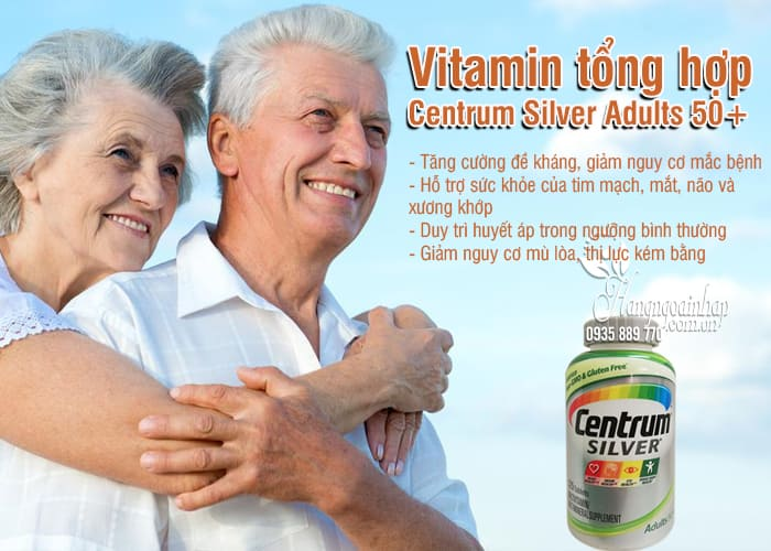 Vitamin tổng hợp Centrum Silver Adults 50+ 325 viên của Mỹ 3