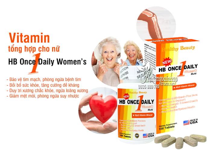 Vitamin tổng hợp cho nữ HB Once Daily Women's 100 viên Mỹ 7