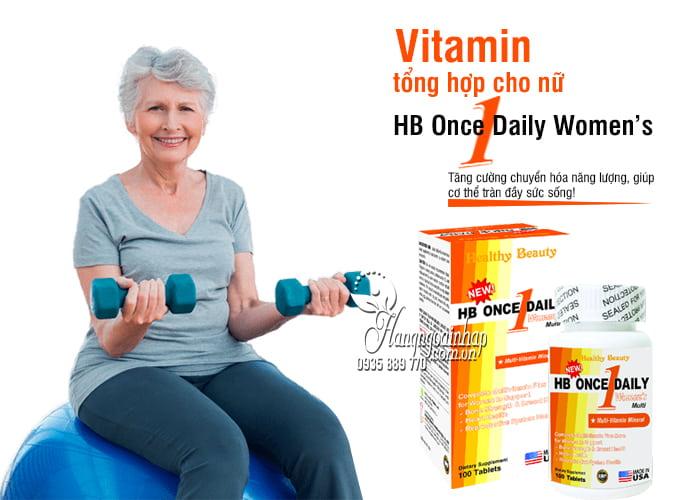 Vitamin tổng hợp cho nữ HB Once Daily Women's 100 viên Mỹ 4