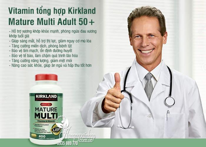 Vitamin tổng hợp Kirkland Mature Multi Adult 50+ của Mỹ 2