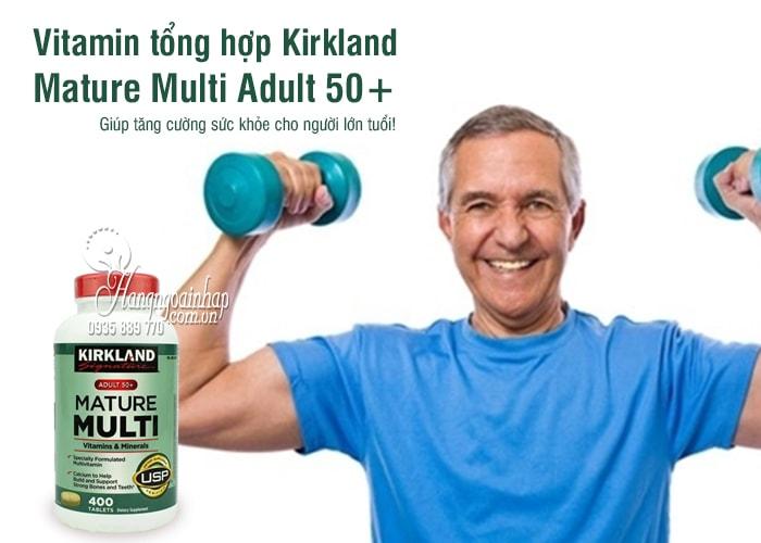 Vitamin tổng hợp Kirkland Mature Multi Adult 50+ của Mỹ 1