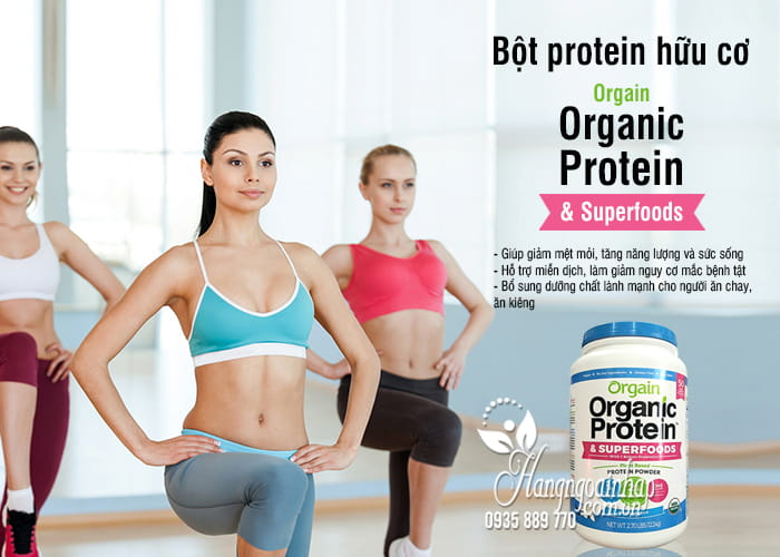 Bột protein hữu cơ Orgain Organic Protein & Superfoods 1224g Mỹ 4