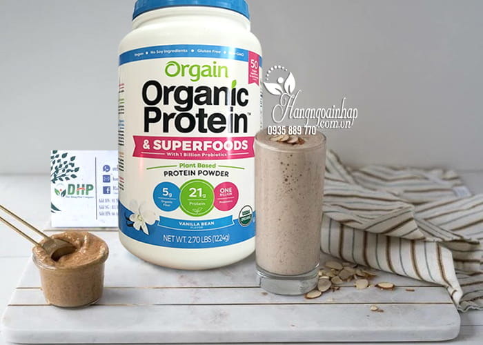 Bột protein hữu cơ Orgain Organic Protein & Superfoods 1224g Mỹ 8