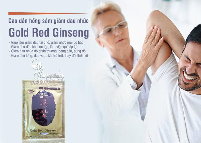 Cao dán hồng sâm Hàn Quốc Gold Red Ginseng giảm đau nhức 6
