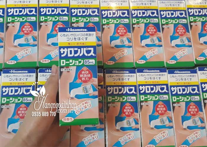 Dầu xoa bóp Hisamitsu 85ml chai lăn tiện lợi của Nhật Bản 5